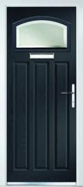 Composite Crown Door In Slate Grey with Alpine Glass